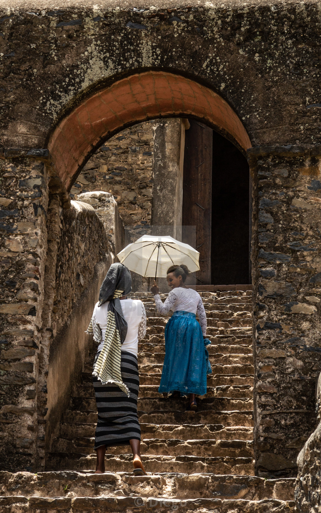 """Back in the gorgeous era of Gondar"" stock image"