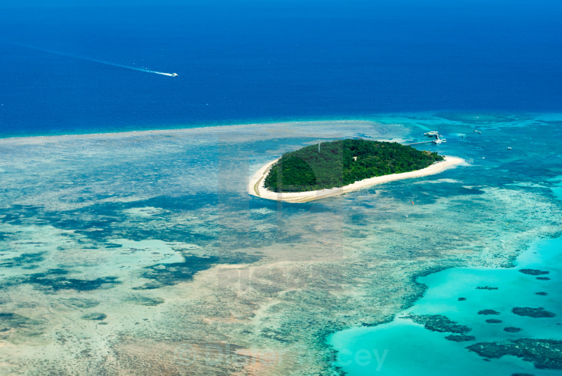 """Green Island on the Great Barrier Reef"" stock image"