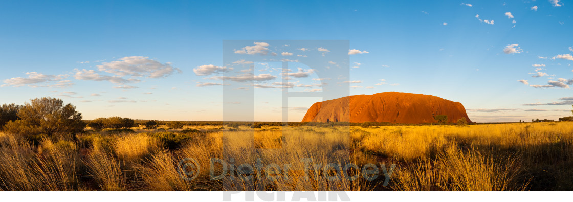 """Uluru sunset panorama"" stock image"