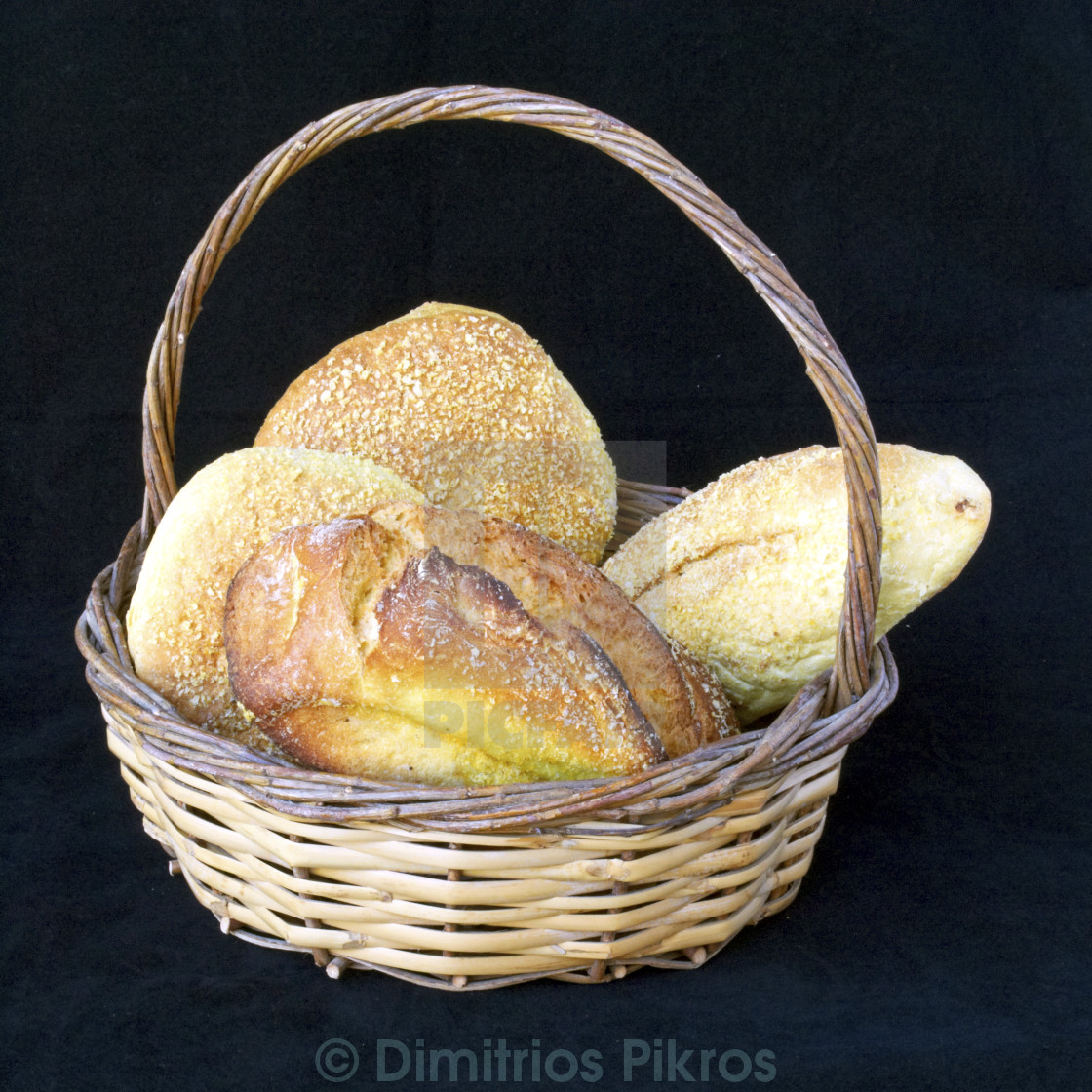 """bread in a basket"" stock image"