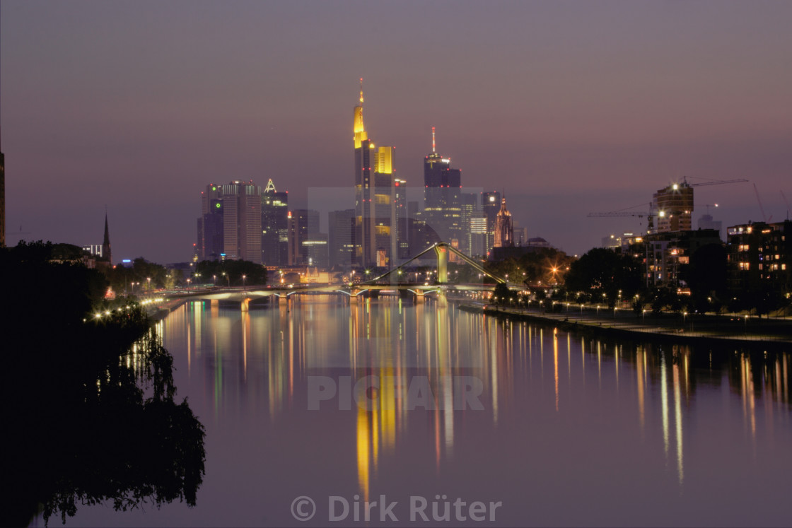 """Frankfurt am Main at night"" stock image"