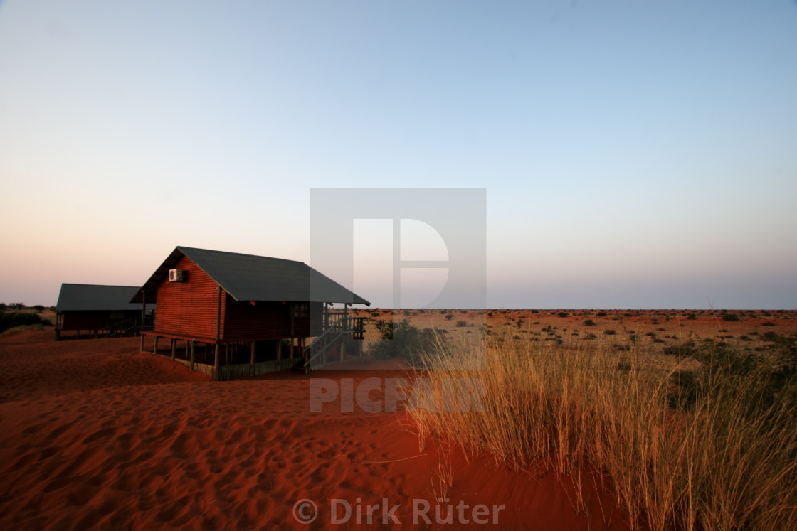 """Lodge in the Kalahari"" stock image"