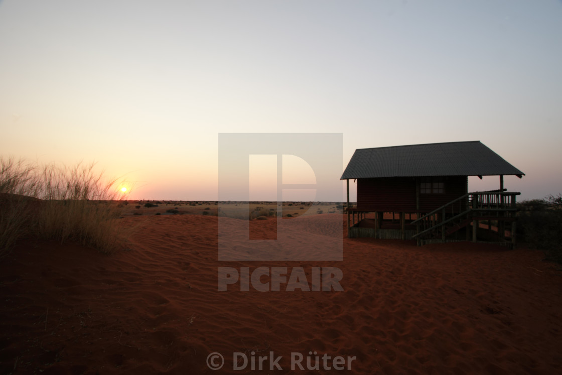"""Sunrise in the Kalahari"" stock image"