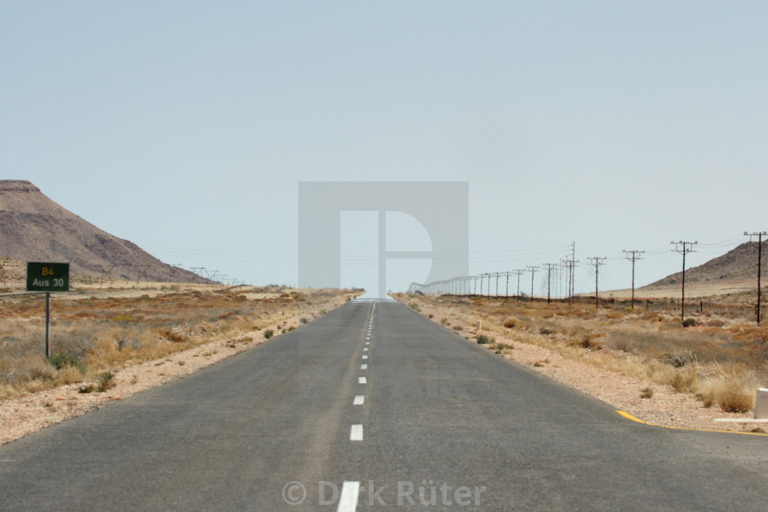 """Road to the horizon"" stock image"
