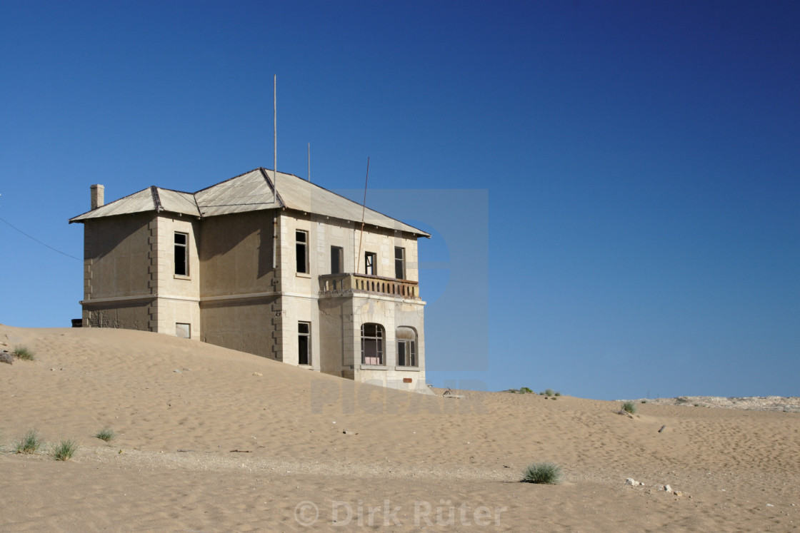 """Ruin in the desert"" stock image"