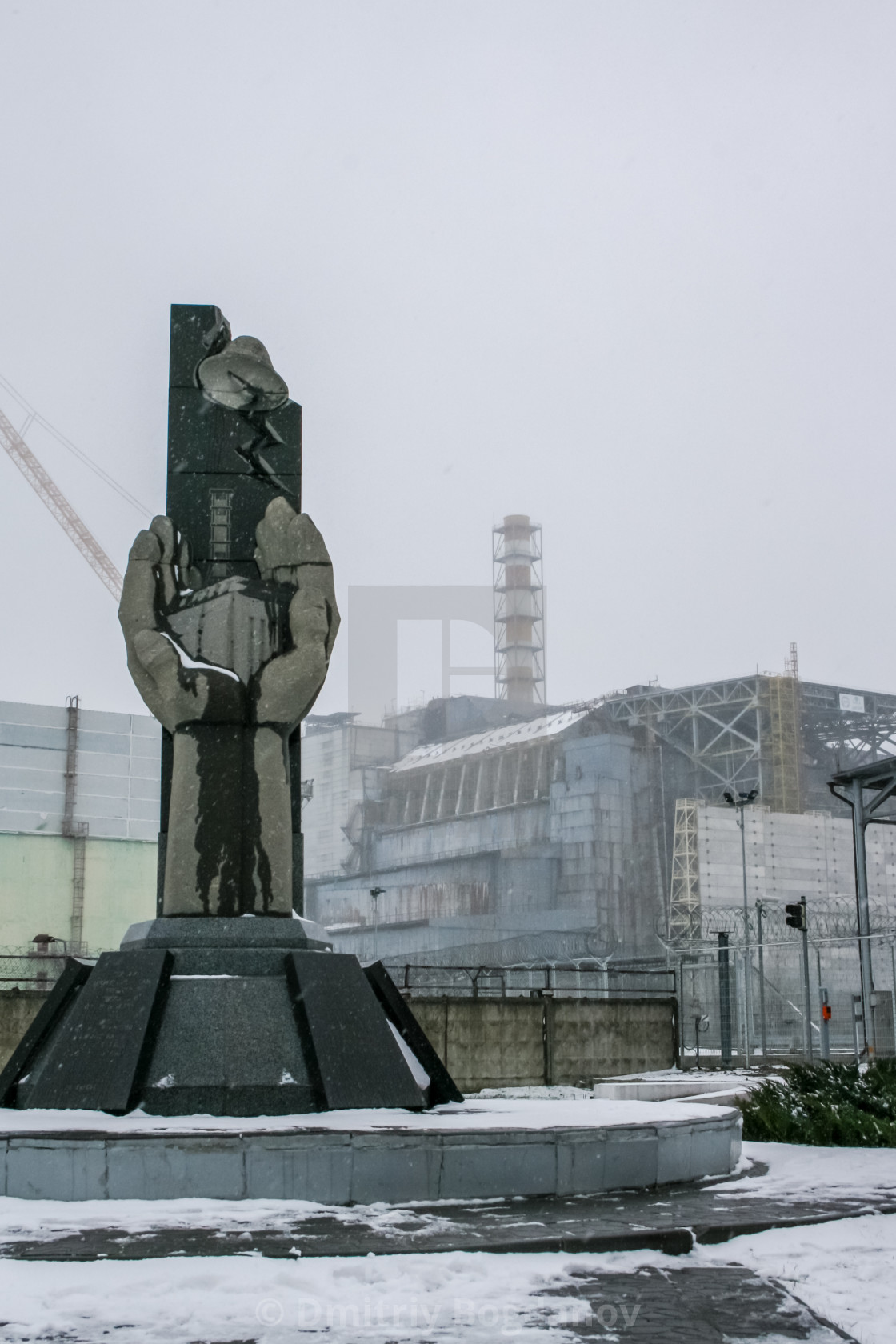 Chernobyl nuclear power plant and sarcophagus  - License