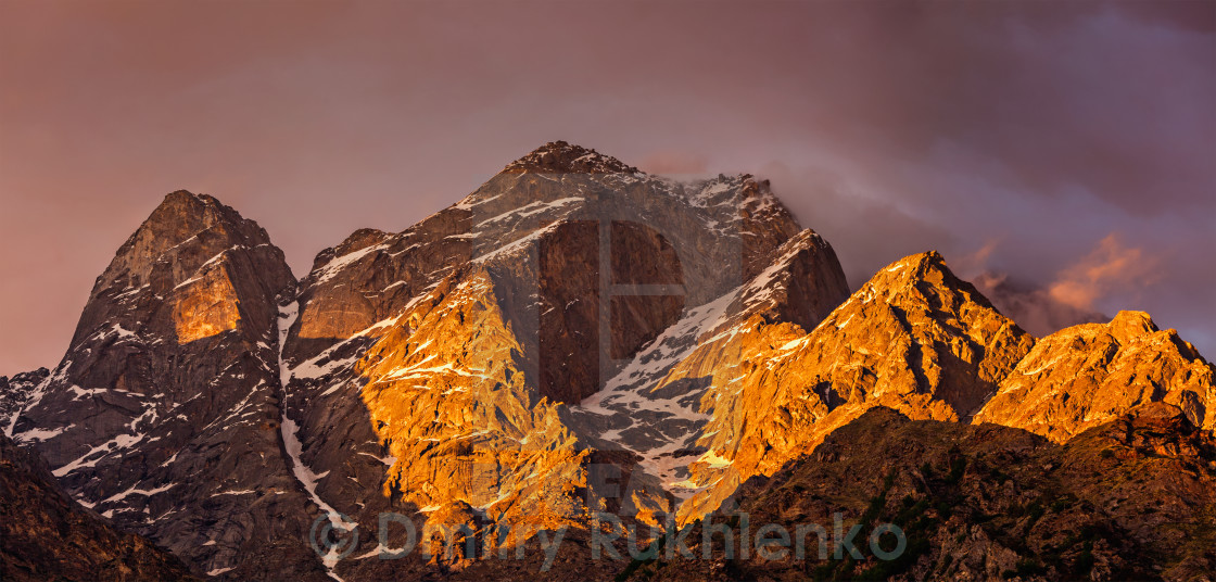"""Himalayas mountains"" stock image"