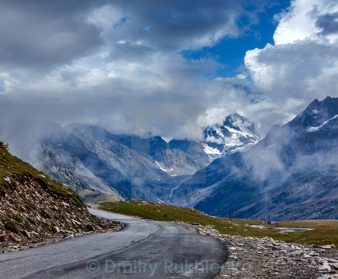 """Road in Himalayas"" stock image"