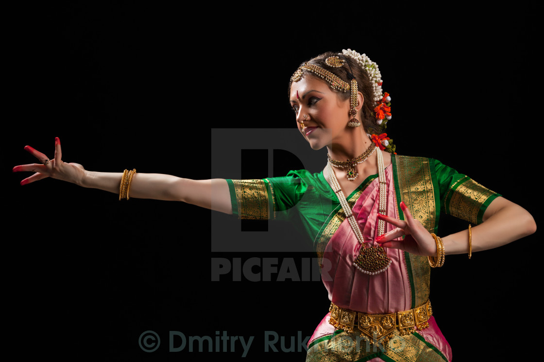 Beautiful Girl Dancer Of Indian Classical Dance Bharatanatyam License Download Or Print For 12 39 Photos Picfair