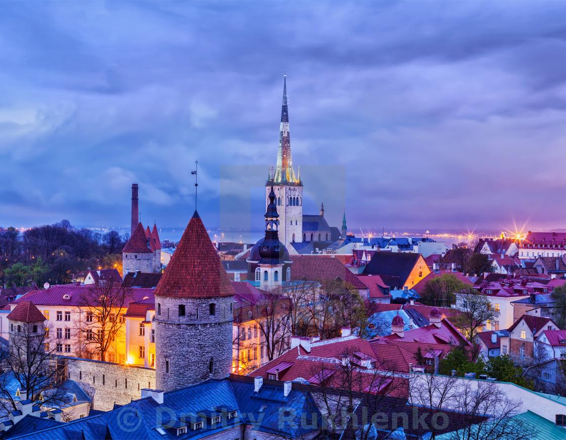 """Tallinn Medieval Old Town, Estonia"" stock image"