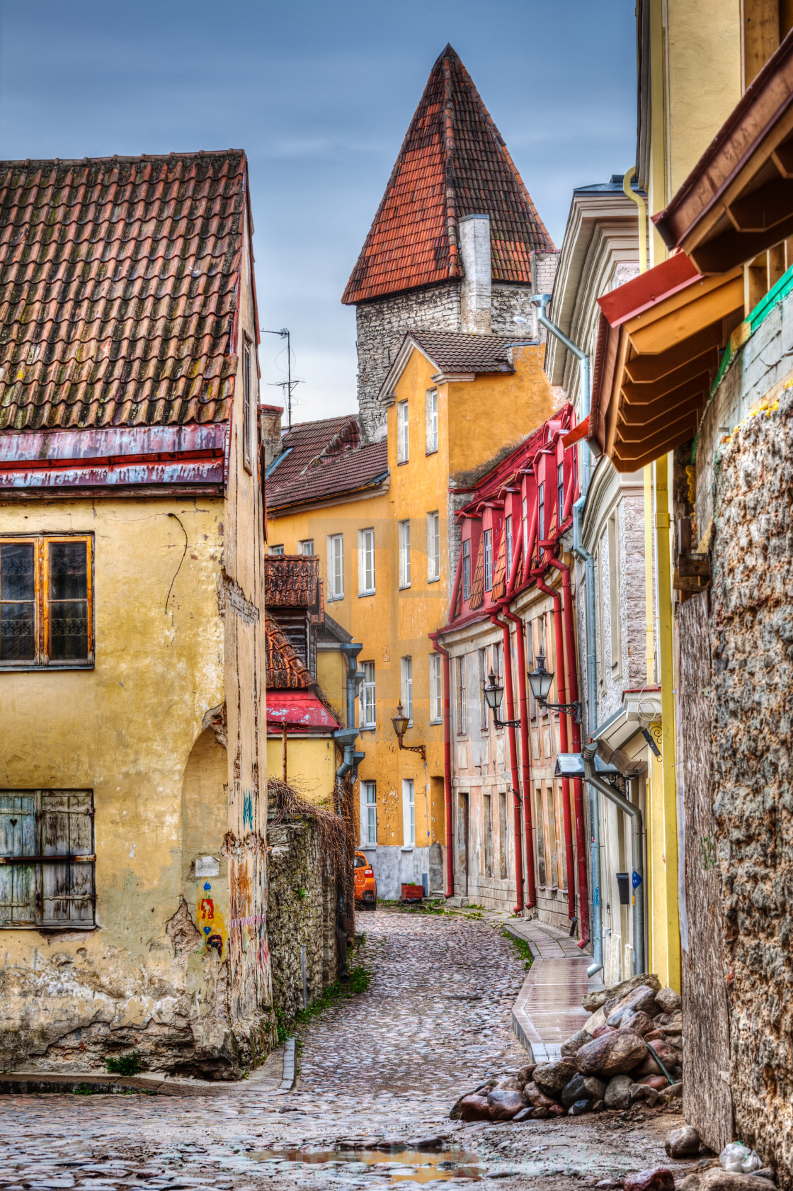"""Tallinn Old Town street, Estonia"" stock image"