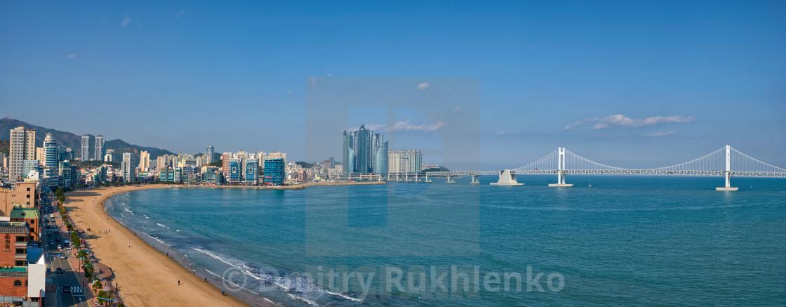"""Gwangalli Beach in Busan, South Korea"" stock image"