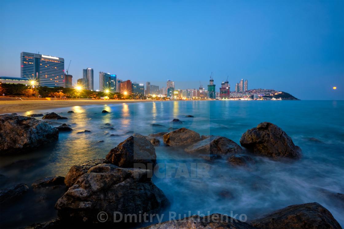 """Haeundae beach in Busan, South Korea"" stock image"