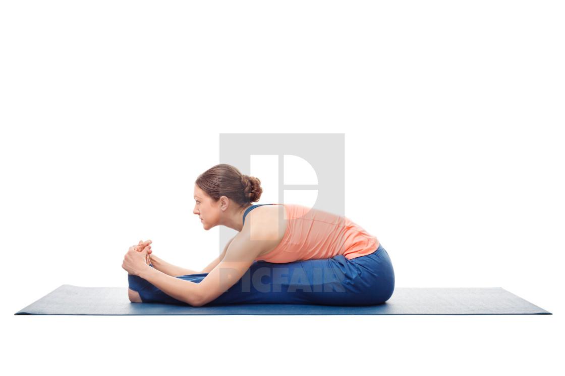 Sporty Woman Doing Ashtanga Vinyasa Yoga Asana License Download Or Print For 9 99 Photos Picfair