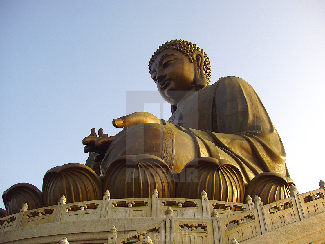 """Big Buddha in Po Lin Monastery on Lantau Island in Hong-Kong"" stock image"