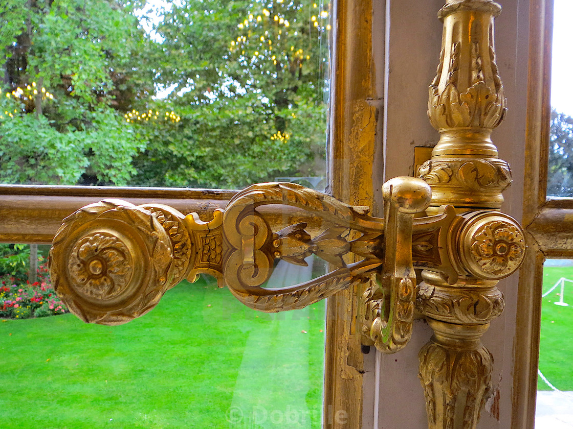 """Golden window handle"" stock image"