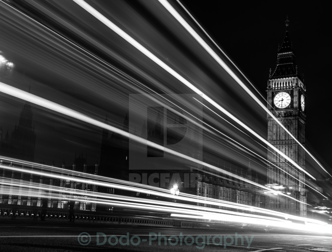 """Big Ben & light"" stock image"