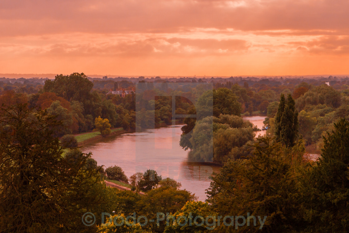 """Valley of the Thames"" stock image"