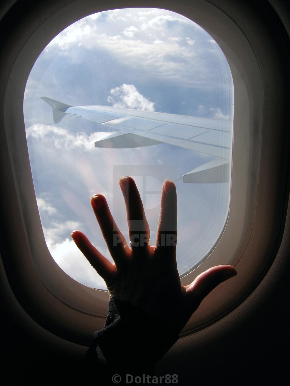 """Airplane passenger 50,000"" stock image"