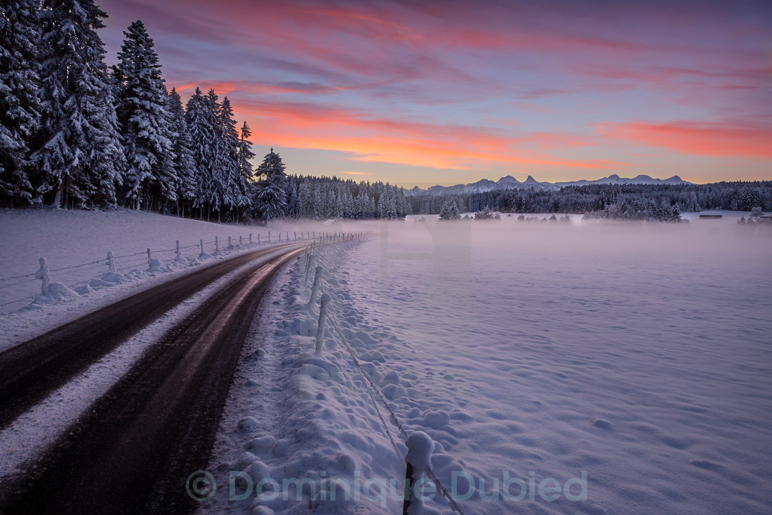 """Road to the Cold"" stock image"