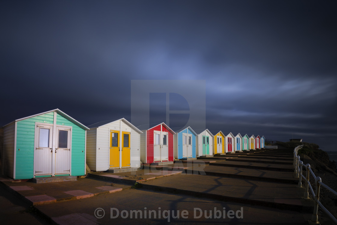 """Colorful Cabins"" stock image"