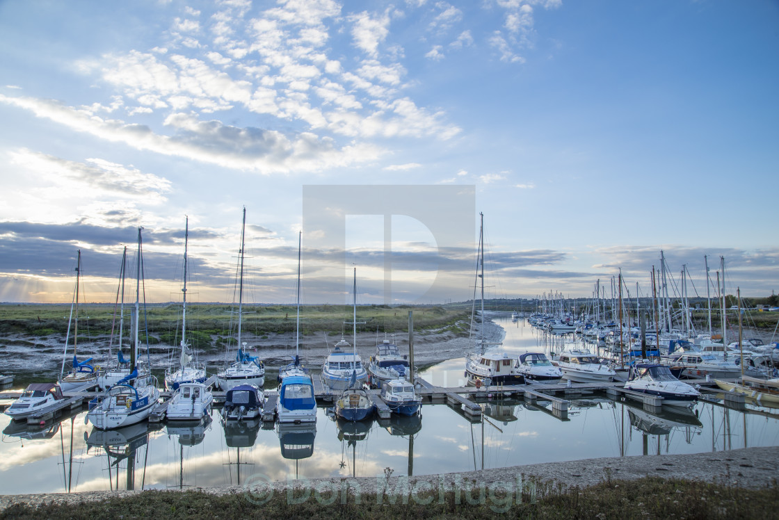 """Yacht Haven North Fambridge (III)"" stock image"
