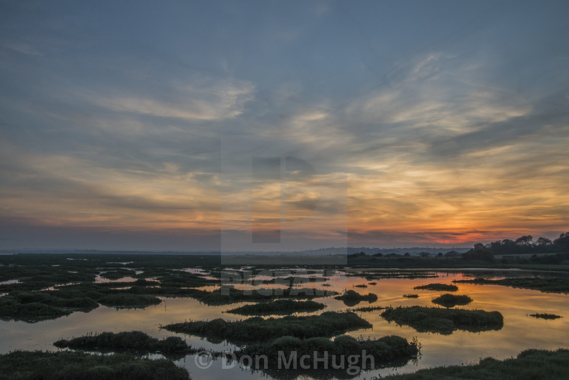 """Sunset at North Fambridge"" stock image"