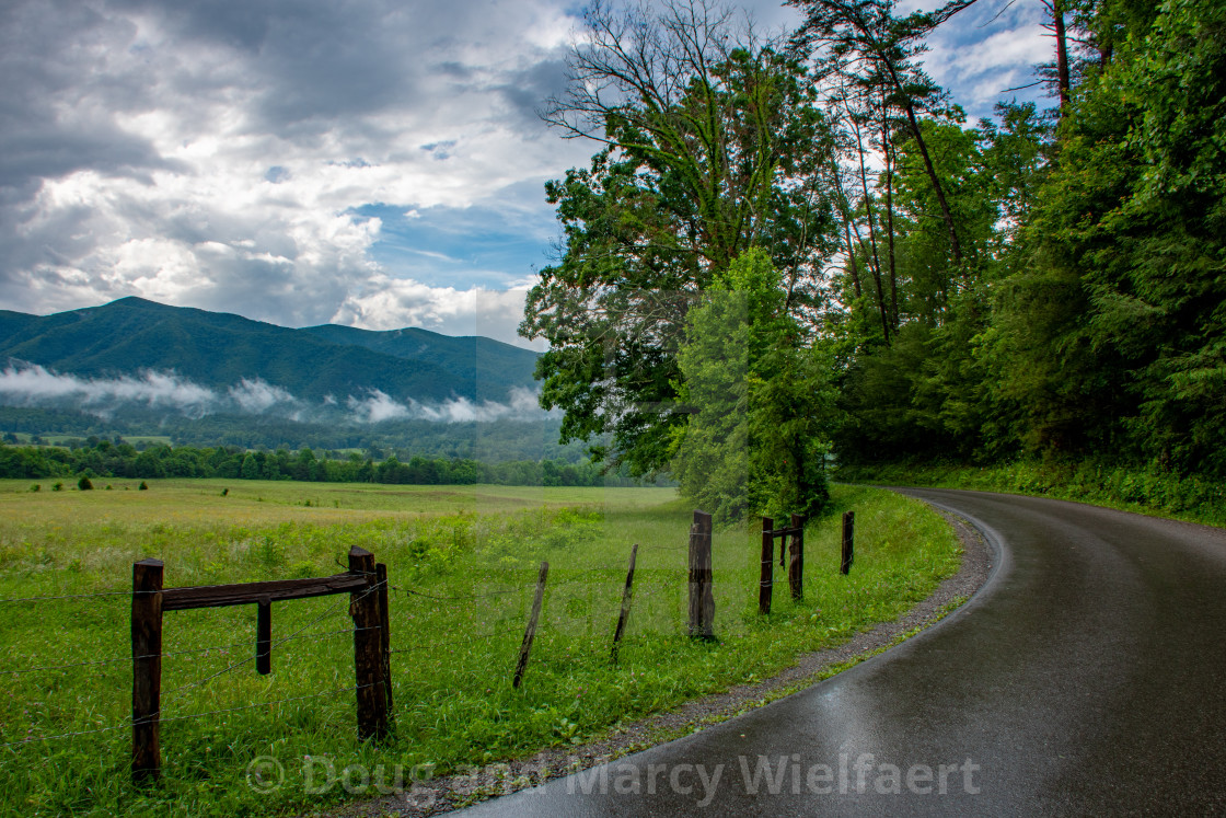 """Mountain Road After Rain"" stock image"