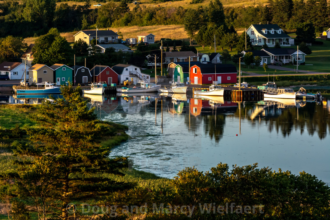 """French River Harbour"" stock image"