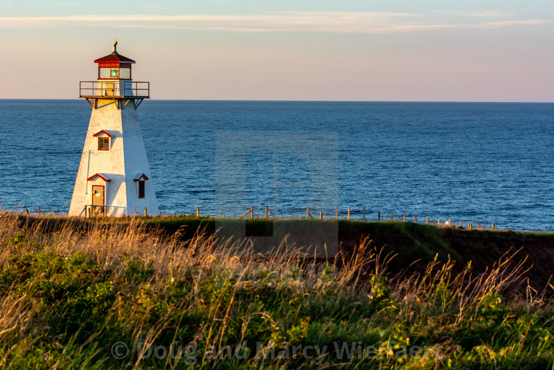"""Cape Tryon Lighthouse"" stock image"