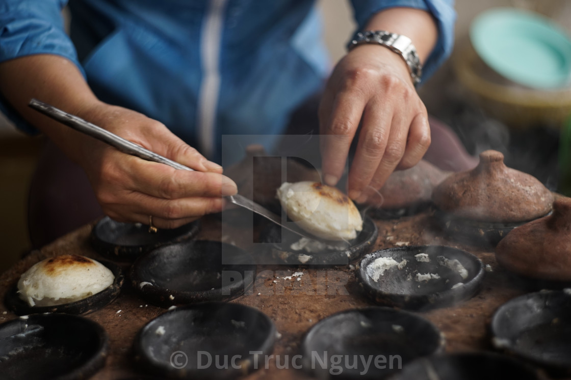 """""""Banh can, a traditional dish in Vietnam."""" stock image"""