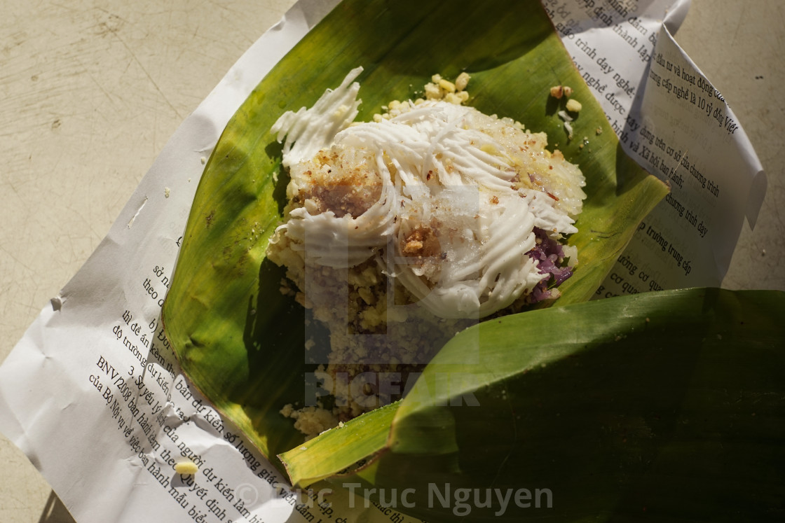 """""""Sticky rice for the breakfast."""" stock image"""