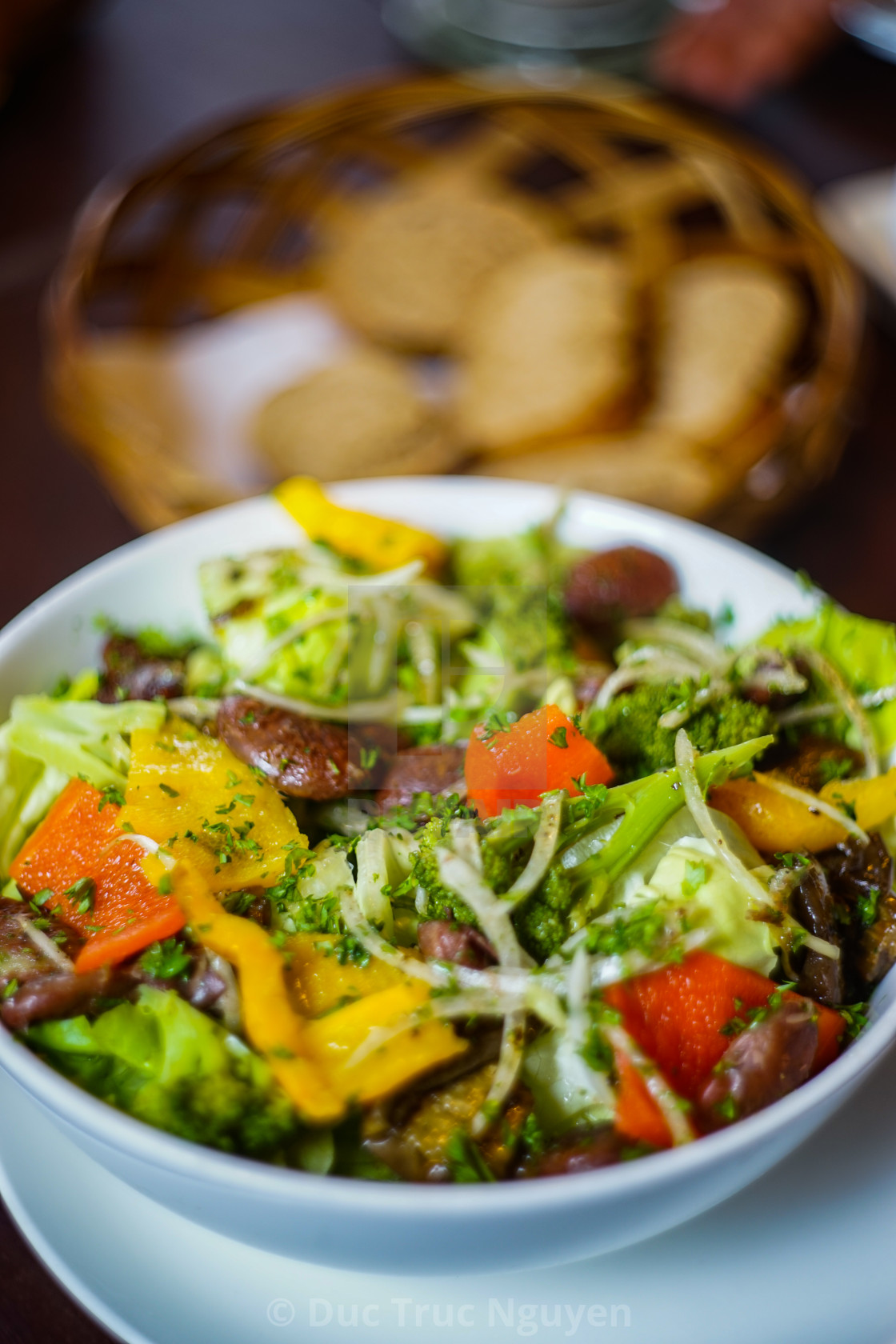 """""""Salad of the day."""" stock image"""
