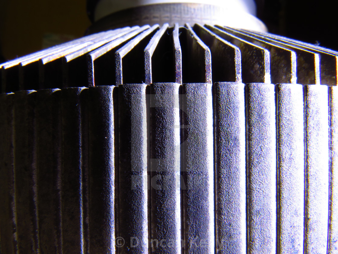 """""""Texture and shadows of an electron tube."""" stock image"""
