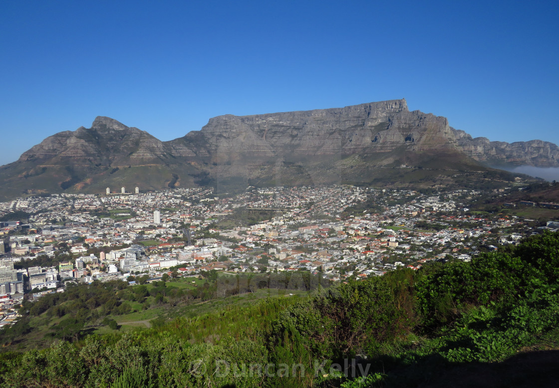 """""""Table mountain and Cape Town, South Africa."""" stock image"""