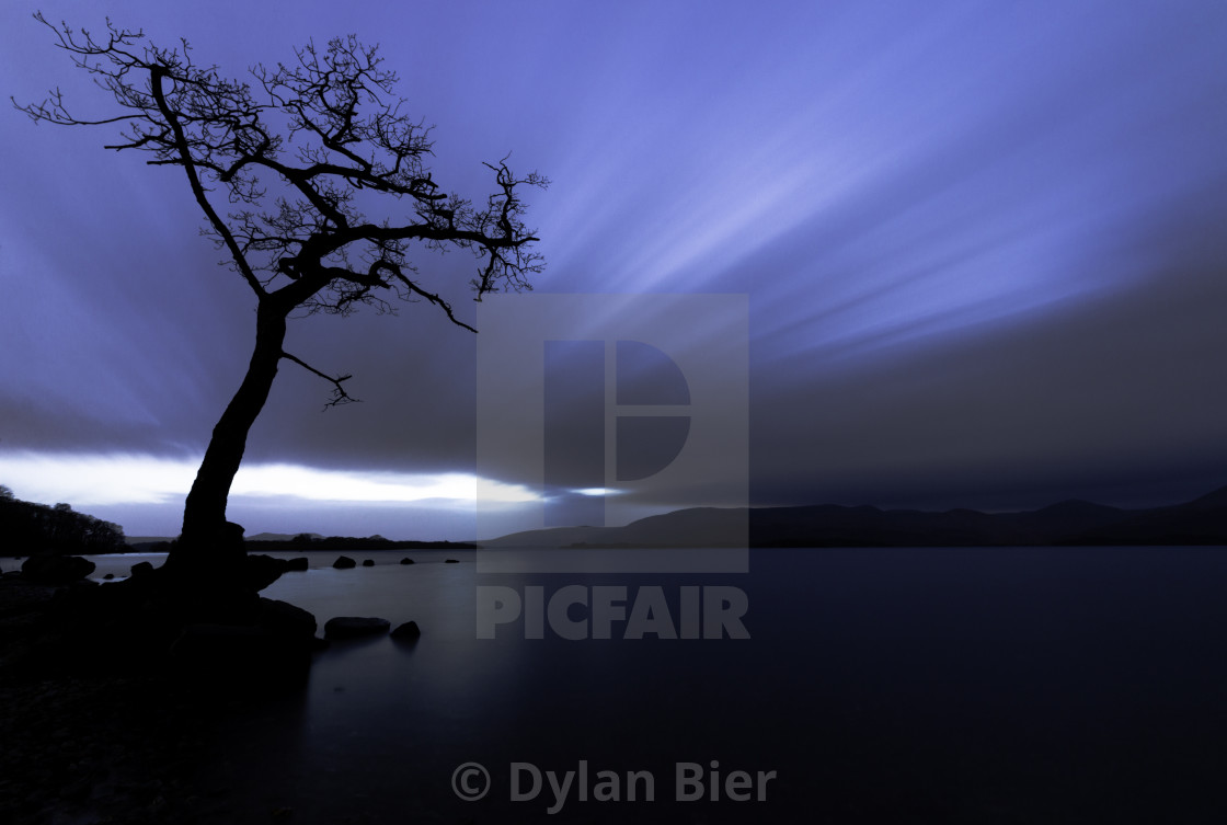 """Sunset on Loch Lomond 4"" stock image"