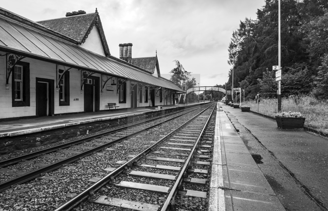 """""""Dunkeld & Birnam Railway Station"""" stock image"""