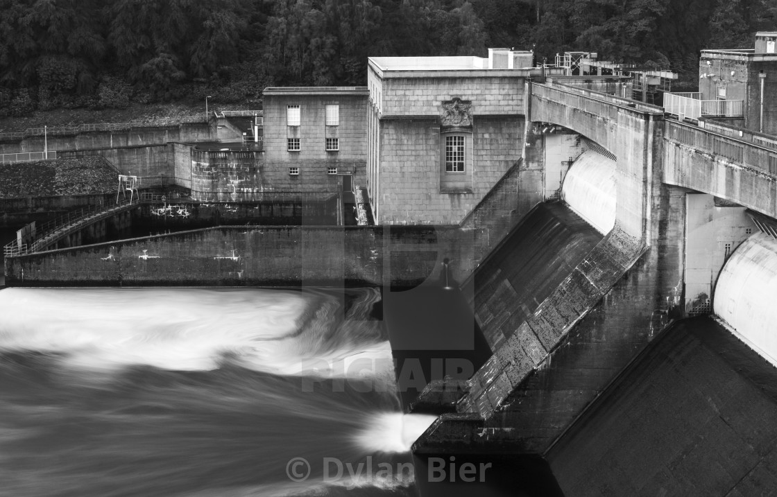 """Pitlochry Dam"" stock image"