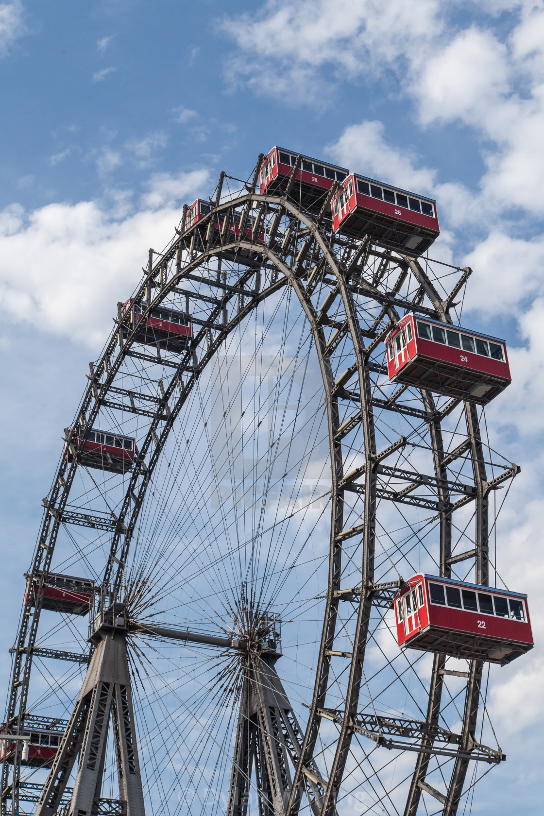 """Riesenrad Big Wheel, Vienna"" stock image"