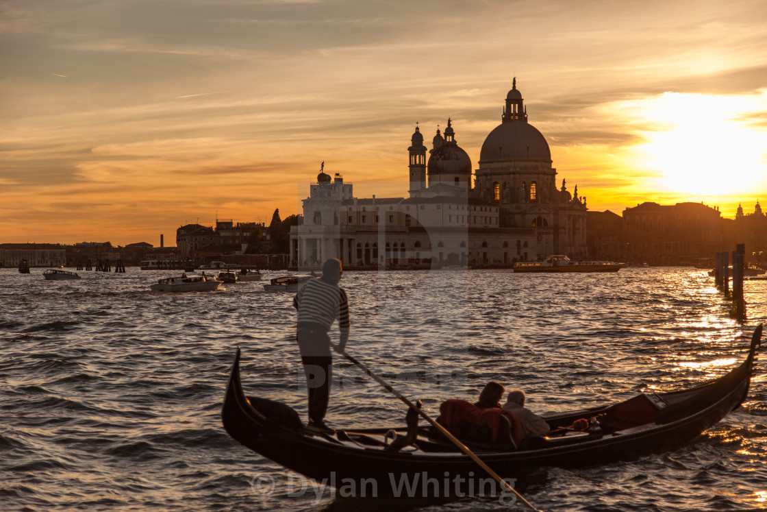 """Sunset Gondola Ride"" stock image"