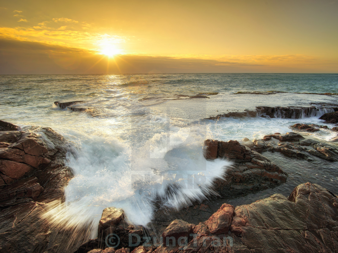 """The waves Vinh Hy"" stock image"