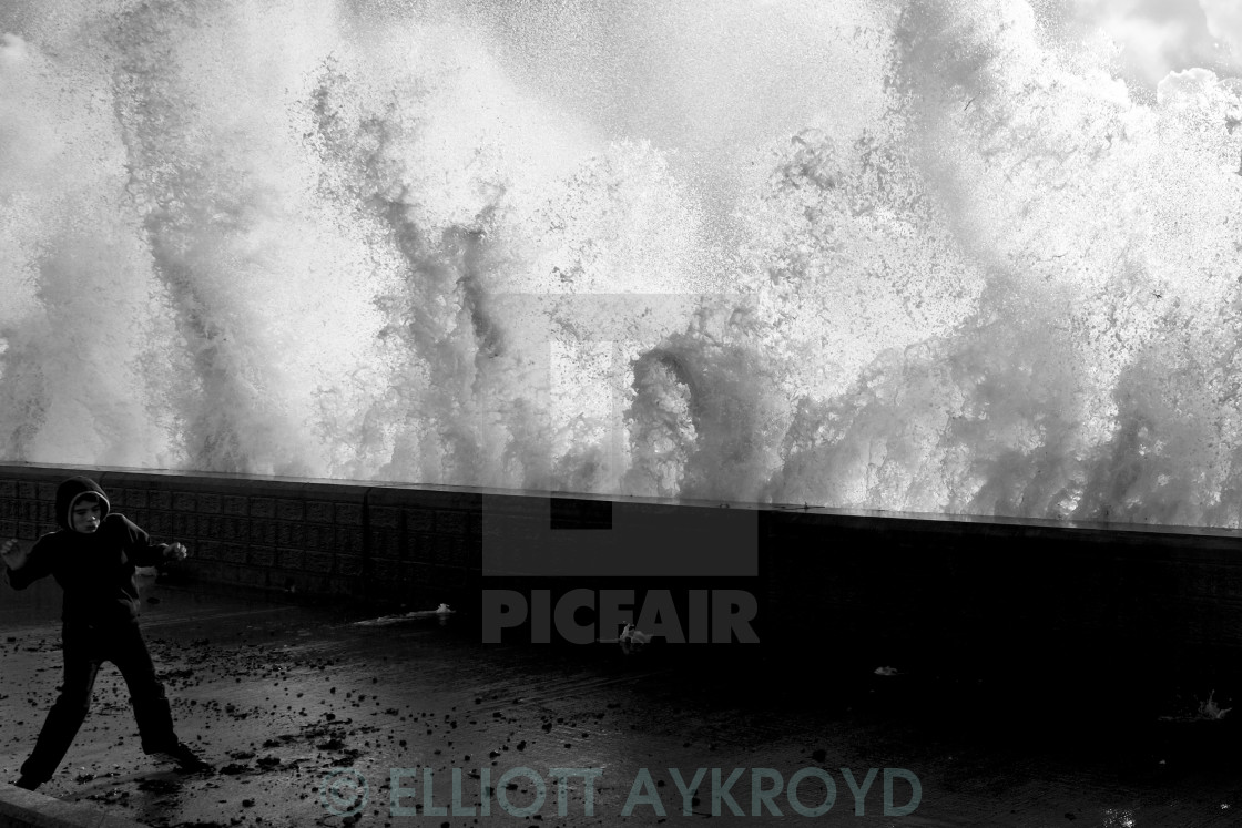 """Brighton waves 3"" stock image"