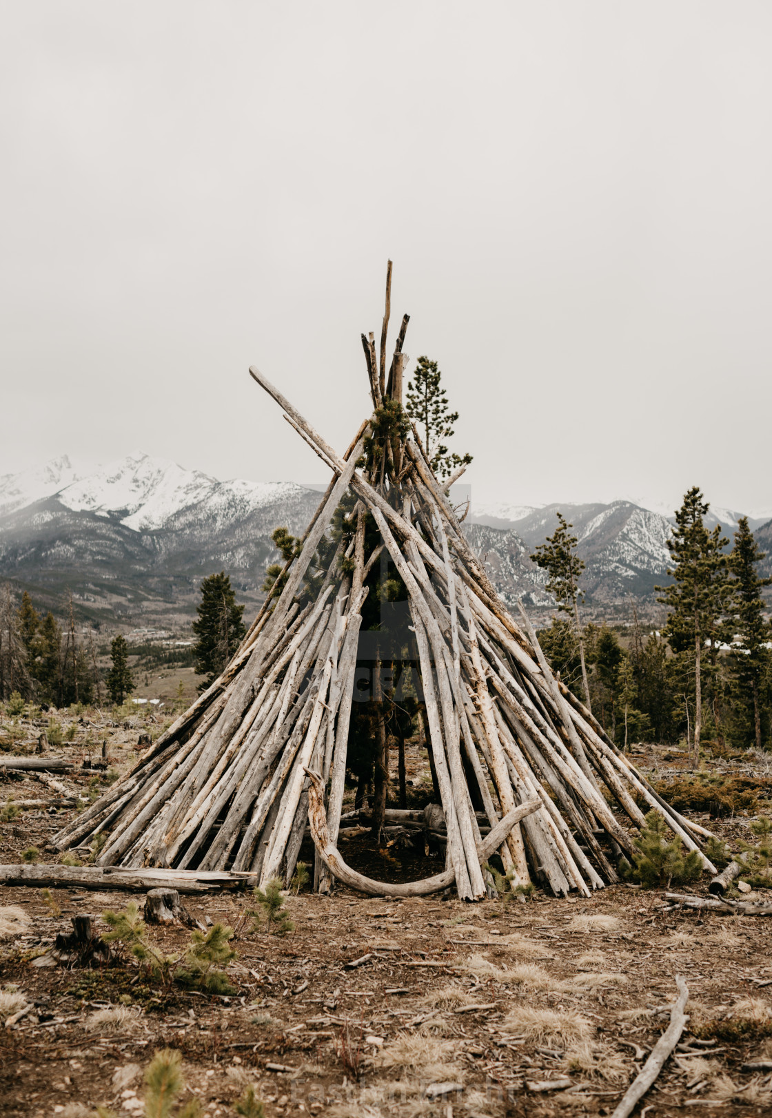 """""""Wooden Stick Teepee"""" stock image"""