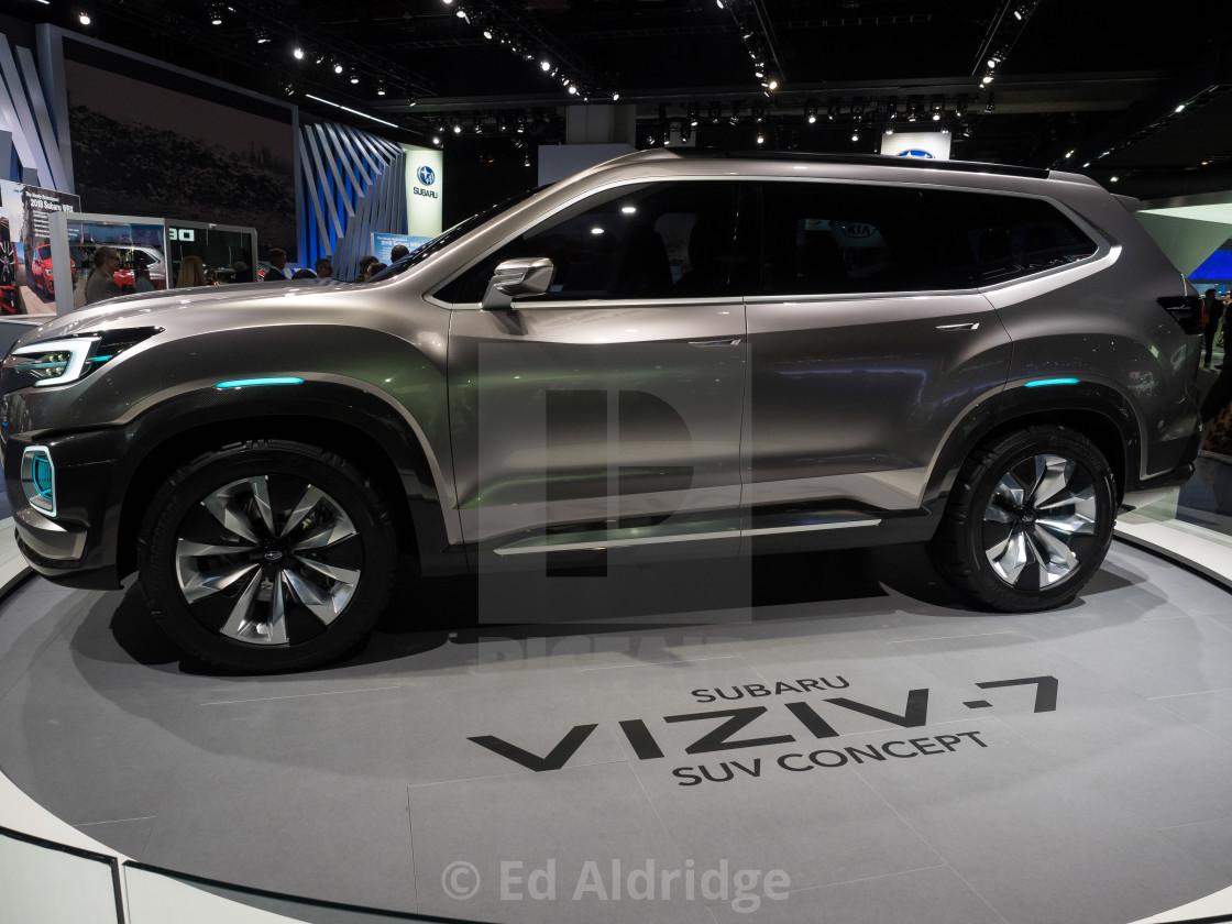 Subaru Viziv 7 Suv Concept At The 2017 North American