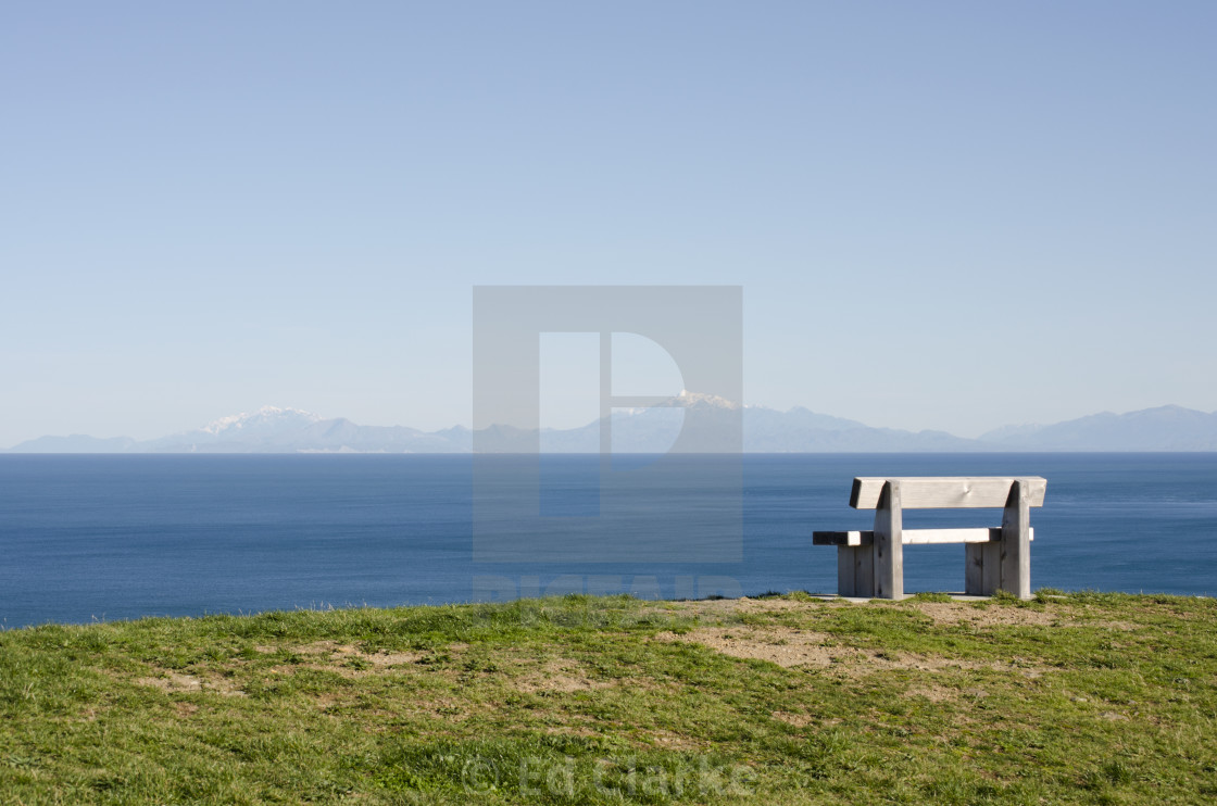 """View of South Island"" stock image"