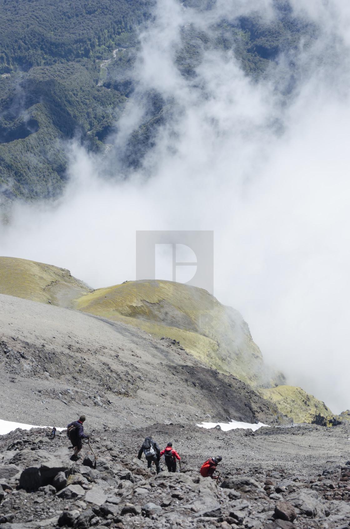 """Descending Taranaki"" stock image"