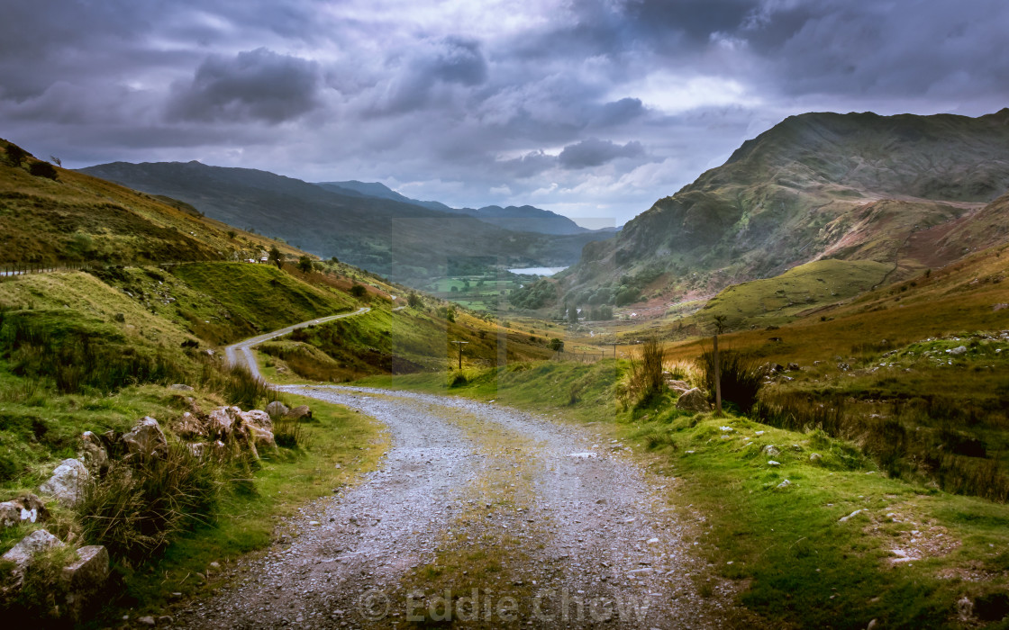 """Pen-y-Pass (I)"" stock image"
