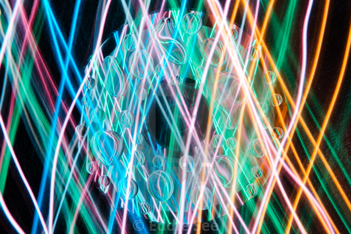 """""""CD water droplet lights"""" stock image"""