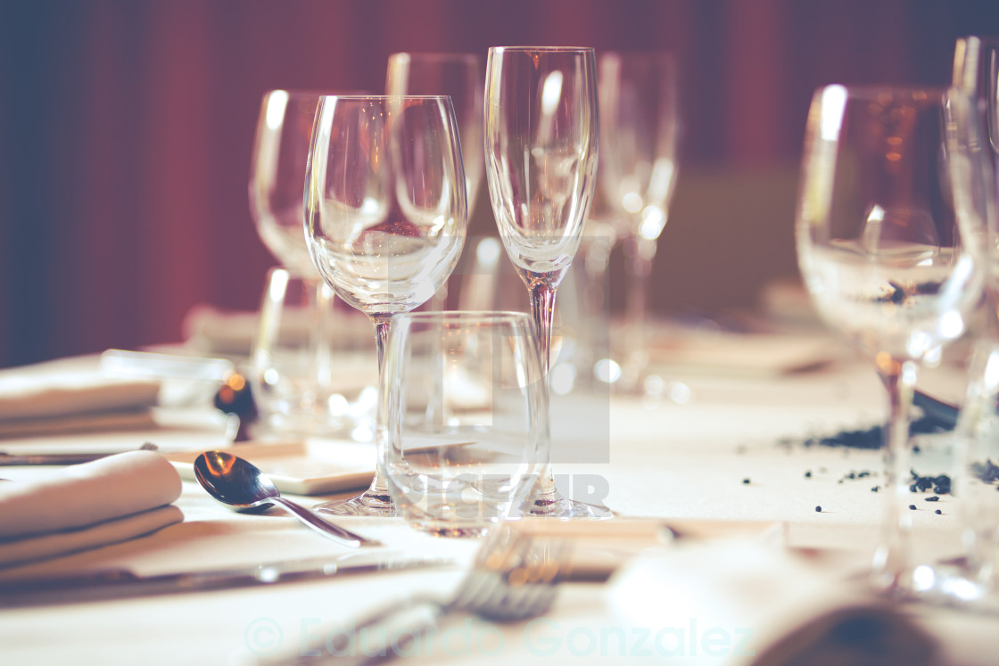 """Restaurant table"" stock image"