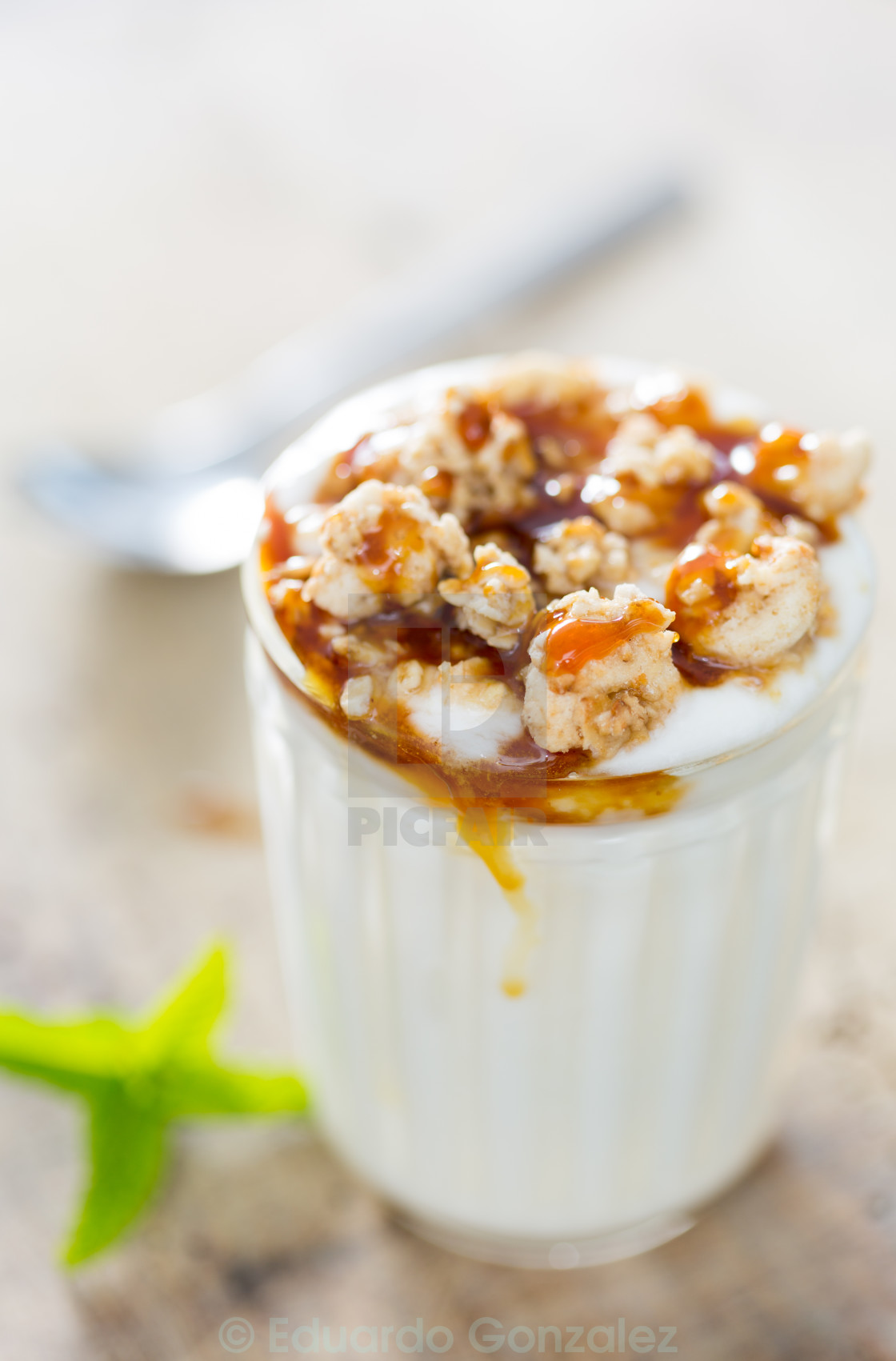 """Yogurt with cereal"" stock image"